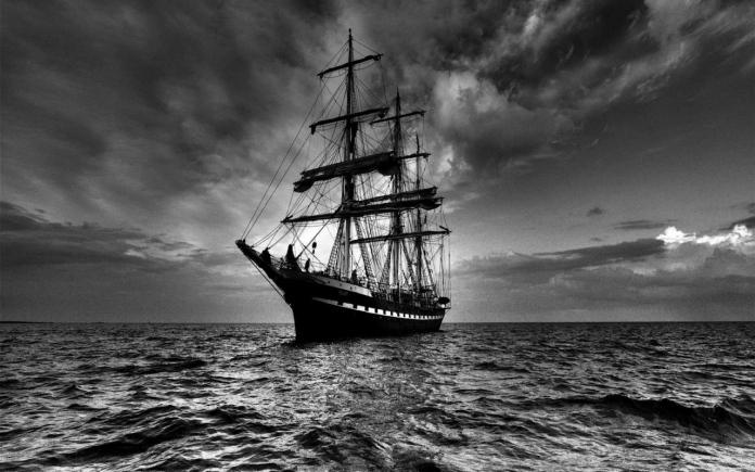 ship_sea_sail_storm_black_white_11161_1280x800